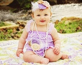 Clearance 50% off Limited Stock - Lavender Petti Lace Romper (S)