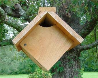 Rustic Cedar Hanging Wren/Sparrow Cube