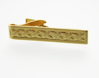 Gold Braided Tie Clip
