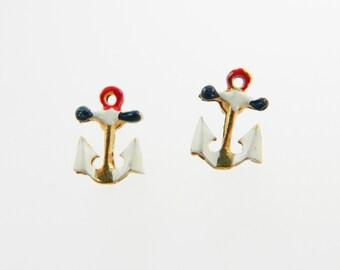 Tiny Anchor Earrings