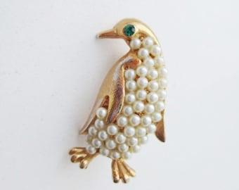 Vintage Penguin Brooch