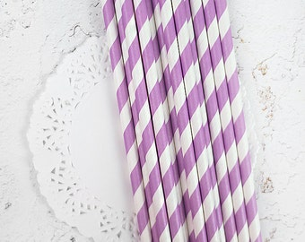 20 grape paper straws
