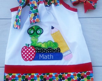 Custom Boutique Back To School  Pillowcase Dress