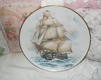 A.J. Heritage Ship Plate of the HMS Victoria,Collectible Plates,Ship,Ship Plate,