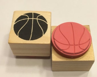 small basketball rubber stamp, 20 mm (BB4/3)