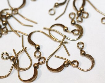100pc Antique Brass Earring Hooks 15mm 1-3 day Shipping