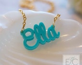 your name or word in acrylic necklace