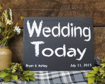 Wedding Today with Name and Date Laser Engraved