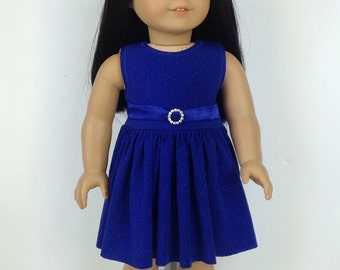 Royal Blue Sparkly Dress ~ for American Girl Dolls