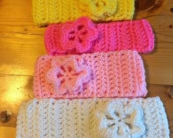 Crochet Flower Headband / Ear Warmers