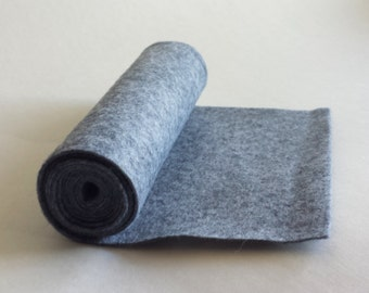 SALE 5x36 Cloudy Day Wool Blend Felt Roll
