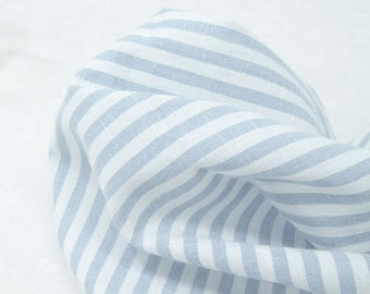 Blue Stripes Cotton Fabric - 57 Inches Wide - By the Yard 88693
