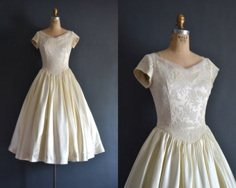 Ulyana / 50s Cahill wedding dress / vintage wedding dress