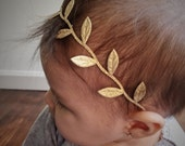 Gold vine headband, baby headband, newborn headbands, gold leaf headband, headband baby, trendy baby headband, boho headband