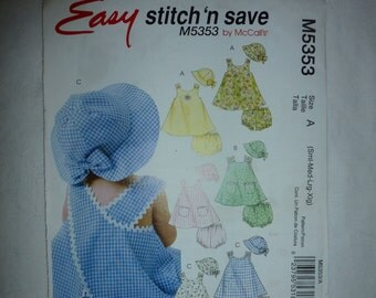 McCalls Pattern 5353 (also sold as 4421)  Easy Stitch n Save Pattern Size Small  Medium  Large  and  Extra Large