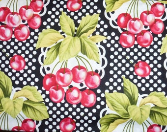 "One Yard of Michael Miller Quilt Cotton Fabric Called  ""Cherry-0"""