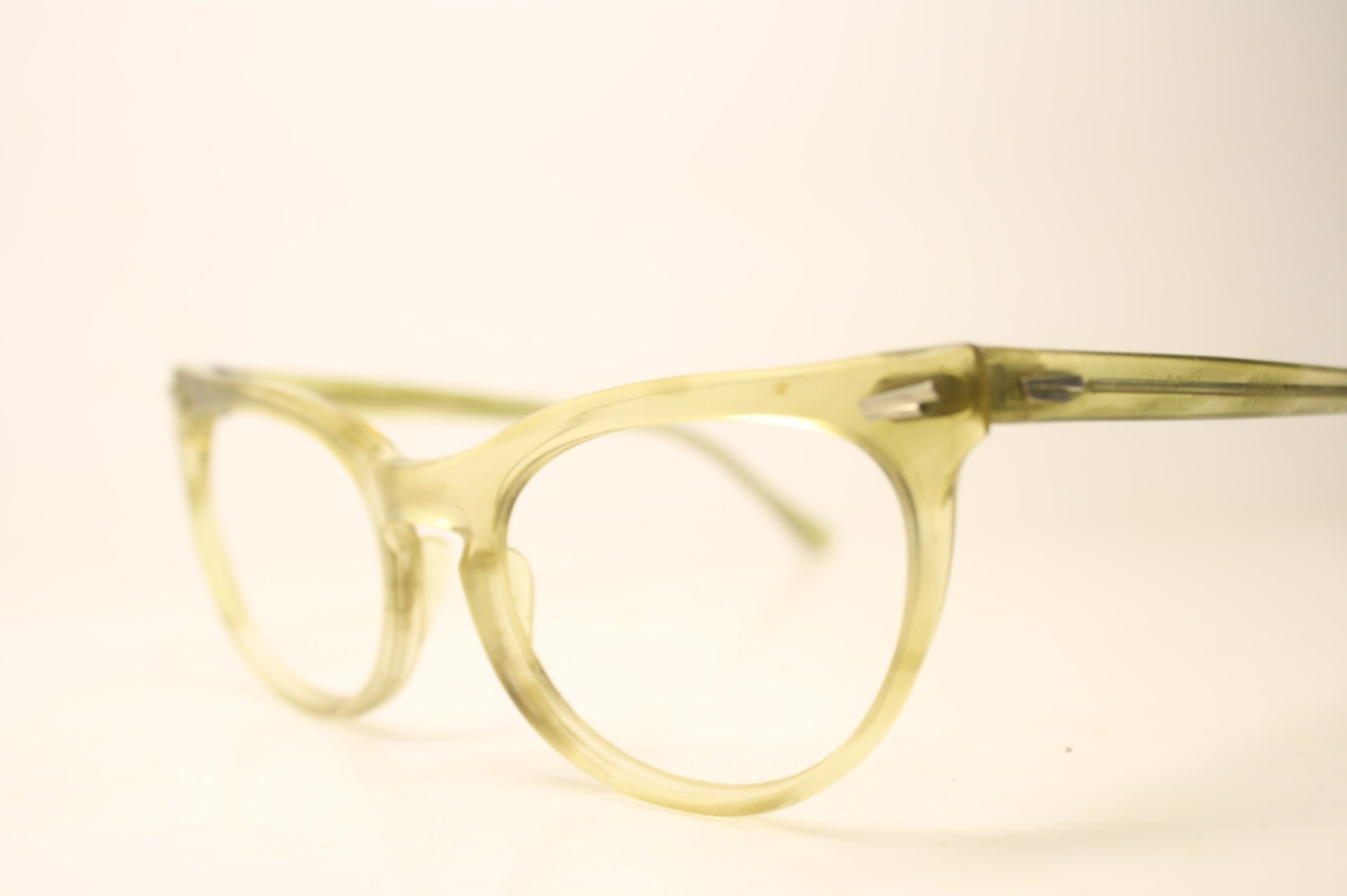 yellow cat eye eyeglasses unique vintage eyewear retro glasses