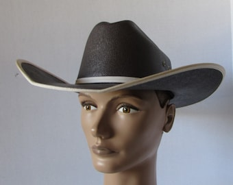 Small Western HAT Brown /elastic sweat band/stiff cotton Mexico youth cowboy hat costume