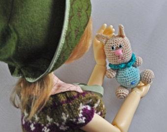 MSD, BJD miniature doll toy/accessory, Mini bunny doll
