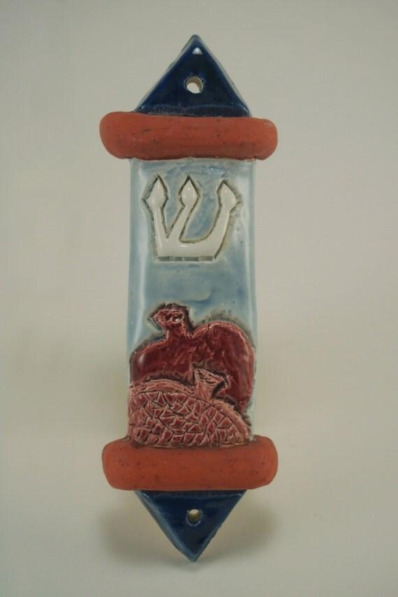 Ceramic Pomegranate Mezuzah Case