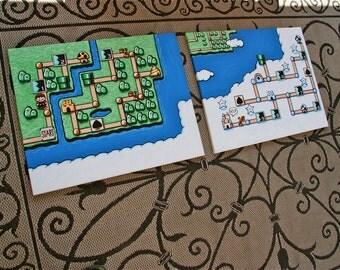 """Super Mario Bros. 3 Painting 24"""" X 36"""" (2X)"""
