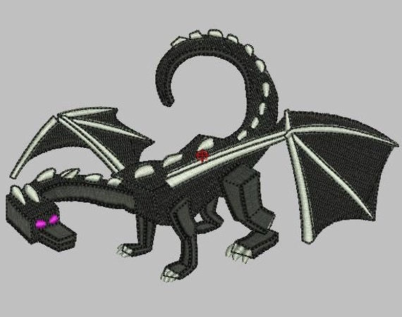 Minecraft Ender Dragon Machine Embroidery Design