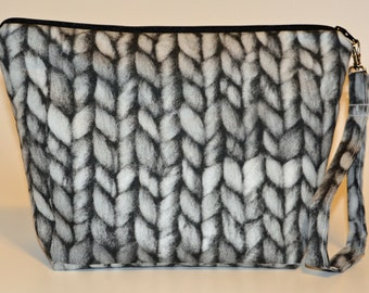 Designer Grays Knit Purl 6 print project bag