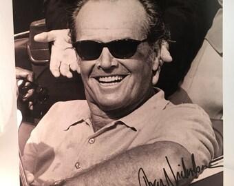 Jack Nicholson Autographed photograph headshot, Movie memoribilla