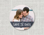 Save the Date Wedding Photo Stickers - Envelope Seal Sticker - Modern Stationary Label - Circle Sticker with Picture - Custom
