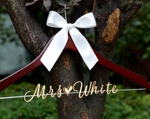 Sales, Personalized Rustic Wedding Dress Hanger, Bride Bridesmaid Wood Name Hanger, Custom Wedding Bridal Hanger,Bridal Shower Gift LL021