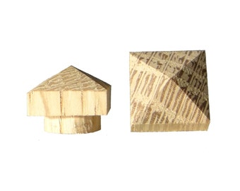 "12 pk 1/2"" White Oak Pyramid Top Hole Plugs"