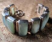 Blue Green Quartz Bracelet.
