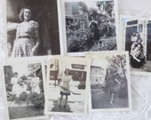 Vintage Snapshots 1940s Women 6 Photographs