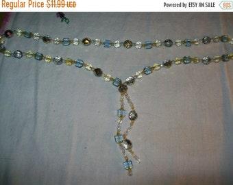 50% OFF Vintage aurora borealis bead necklace, aurora borealis glass beads