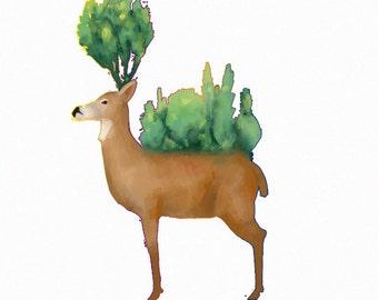 Deer- Print of my original illustration