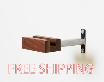 Walnut Minimal Bicycle Bike Wall Hanger Mount Storage Rack Bike Hanger