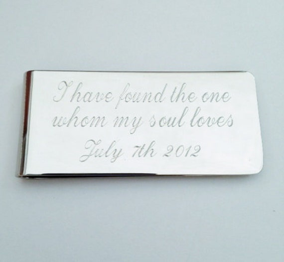 Personalized Money Clip, I have found the one for whom my soul loves, Silver Money Clip