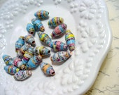 Map Paper Beads, Old Map Paper Bead, Virginia Map Paper Bead, Recycled Paper, Rolled Paper Bead, Supplies, Paper Bead Jewelry, Biscone