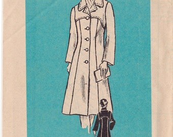 FF Vintage Size 46 Woman's Coat Sewing Pattern - Mail Order 4524 - Bust 50, UNCUT