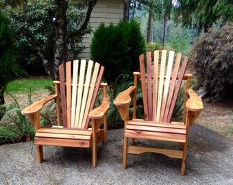 High Rise Cedar Adirondack Chair