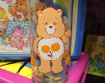 Care Bear Friend Bear Glass Cup 1983