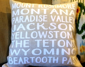 Favorite Places Travel Saying Verse Personalized Pillow Cover