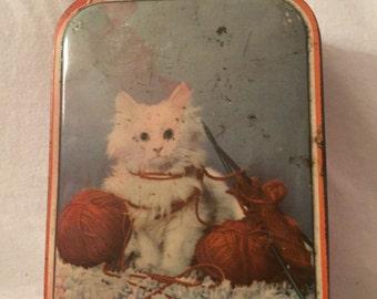 Kitten Sharps candy tin
