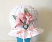 Crochet PATTERN  Child sized Spring Easter Bonnet