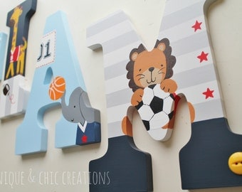Lambs and Ivy Peek All Star Themed Wooden Letters for Nursery or Bedroom