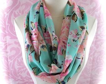 spring floral scarf/flower scarf/ summer scarf