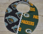 Wisconsin Green Bay Packers and Jacksonville Jaguars NFL House Divided Baby Bib