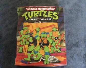 Vintage Teenage Mutant Ninja Turtles Action Figure Collectors Case (1988)