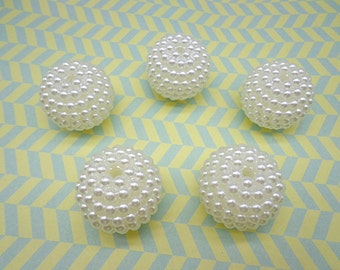 10pcs Ivory white 32 mm Yang Mei shape faux Pearl beads,plastic beads with hole