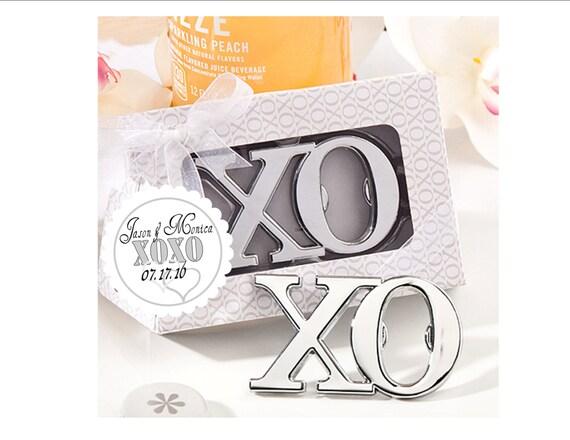 bottle opener favor xoxo design bridal shower. Black Bedroom Furniture Sets. Home Design Ideas